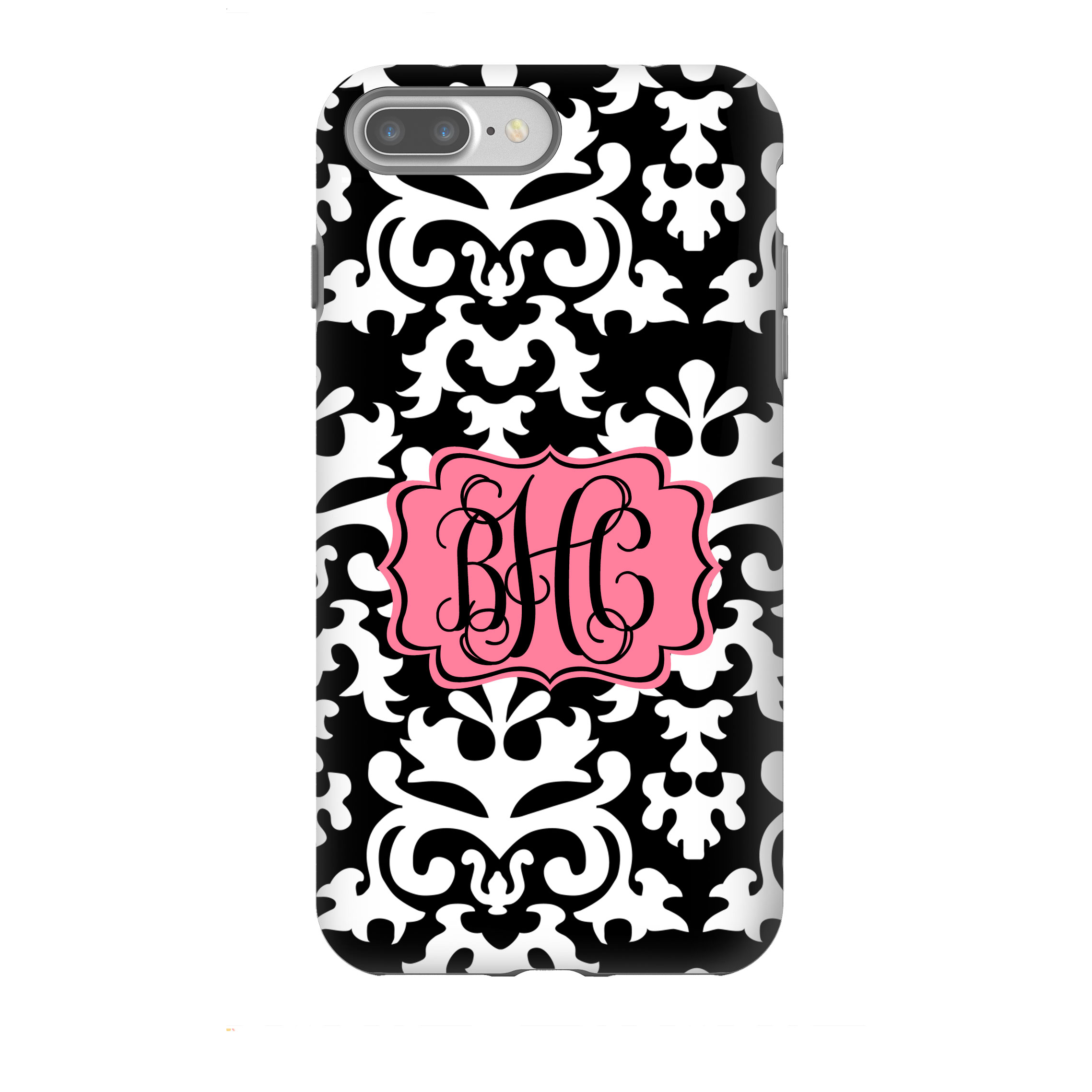 huge discount 16477 48941 Vintage Damask Personalized Phone Case, Custom Monogrammed Phone Case