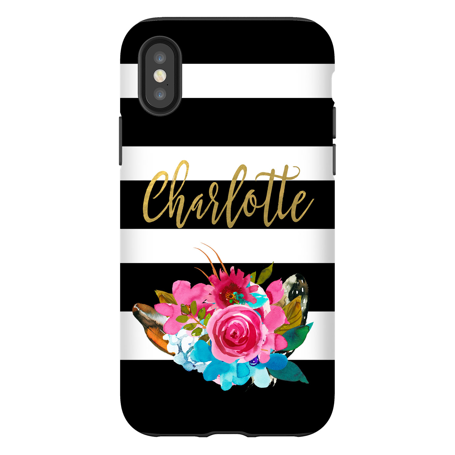 Watercolor Strips Personalized Phone Case Iphone Samsung Case