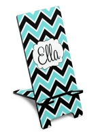 Personalized 2 Color Chevron Phone Stand