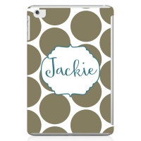 Dots Monogrammed iPad 2 Case