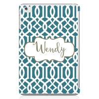 Lattice Print Personalized iPad Mini Case