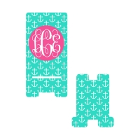 Personalized Mint Anchor Phone Stand