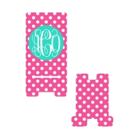 Personalized Pink Dot Phone Stand