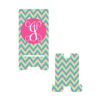 Personalized Hot Pink Multi Chevron Phone Stand