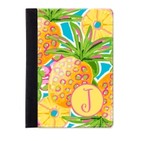 Preppy Pineapple Personalized iPad Folio Case, Monogrammed iPad Jacket