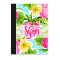 Strawberry Kiwi Personalized iPad Folio Case, Monogrammed iPad Jacket