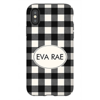 Buffalo Plaid Black Phone Case