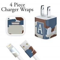 Blue Camo Personalized Charger Wrap