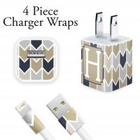 Herringbone Personalized Charger Wrap
