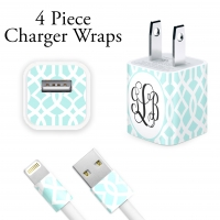 Lattice Print Personalized iPhone Charger Wraps
