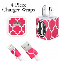 Moroccan Print Personalized iPhone Charger Wraps