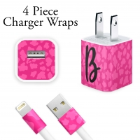 Pink Leopard Personalized Charger Wrap