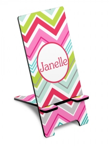 Personalized Colorful Chevron Phone Stand