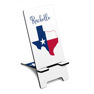 Texas Flag Personalized Phone Stand