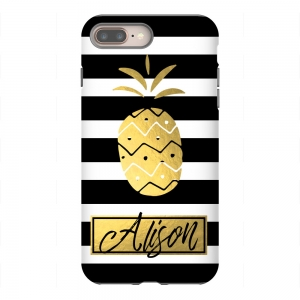Pineapple Stripes Personalized Phone Case