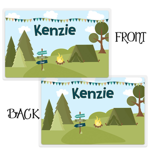 Camping Personalized Kids Placemat