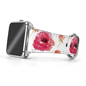 Pretty Poppies Personalized Apple Watch Band