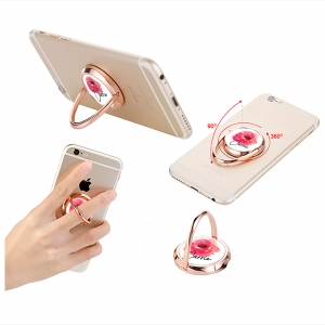 Watercolor Rose Personalized Phone Ring Stand - Phone Grip