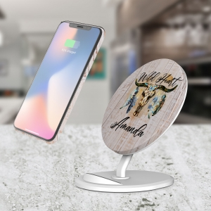 Personalized Wild Heart Wireless Charger
