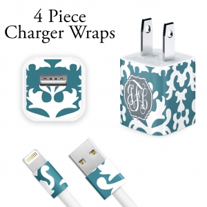 Vintage Damask Personalized Charger Wrap
