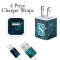 Teal Galaxy Personalized iPhone Charger Wraps